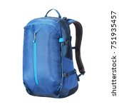 blue school backpack isolated... | Shutterstock . vector #751935457