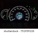 car speedometer panel. view at... | Shutterstock . vector #751959133