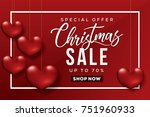 christmas sale banner. special... | Shutterstock .eps vector #751960933
