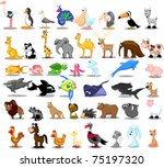 extra large set of animals... | Shutterstock .eps vector #75197320