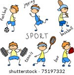 cartoon sport icon | Shutterstock .eps vector #75197332
