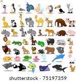 extra large set of animals... | Shutterstock .eps vector #75197359