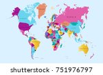 color world map vector | Shutterstock .eps vector #751976797