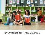preschool kids kindergarten... | Shutterstock . vector #751982413