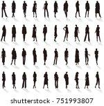 silhouette   women's fashion  | Shutterstock .eps vector #751993807