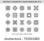 geometric modern vector logos... | Shutterstock .eps vector #752001883