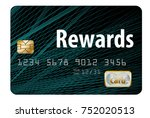 a rewards credit card is... | Shutterstock . vector #752020513