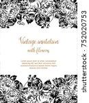 vintage delicate invitation...   Shutterstock . vector #752020753