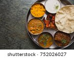 typical curry set meal of meals ... | Shutterstock . vector #752026027