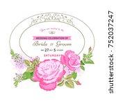 vintage floral background... | Shutterstock .eps vector #752037247