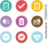 origami corner style icon set   ... | Shutterstock .eps vector #752054773