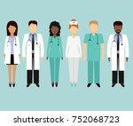 medical characters flat people. ... | Shutterstock .eps vector #752068723