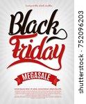 black friday sale inscription... | Shutterstock .eps vector #752096203
