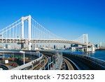 cityscape of the tokyo... | Shutterstock . vector #752103523