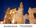 merida san ildefonso cathedral... | Shutterstock . vector #752105683