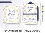 wedding invitation  save the... | Shutterstock .eps vector #752120497