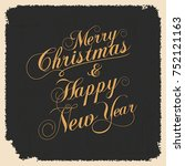 vintage vector christmas and... | Shutterstock .eps vector #752121163