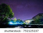light writing with milky way... | Shutterstock . vector #752125237