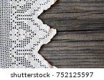 vintage handmade lace... | Shutterstock . vector #752125597