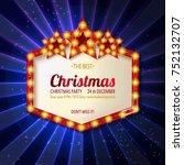 invitation merry christmas... | Shutterstock .eps vector #752132707