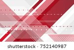 red and grey tech minimal... | Shutterstock . vector #752140987