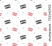 audio stereo cassette seamless...   Shutterstock .eps vector #752141923
