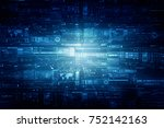 2d illustration technology... | Shutterstock . vector #752142163