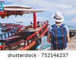 boat tour  tourist traveler... | Shutterstock . vector #752146237