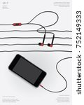 conceptual earphones with... | Shutterstock .eps vector #752149333