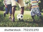 african american family... | Shutterstock . vector #752151193