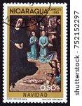 nicaragua   circa 1983  a stamp ... | Shutterstock . vector #752152297