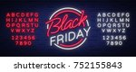 black friday vector isolated ... | Shutterstock .eps vector #752155843
