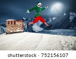 Christmas Elf. Roof With...