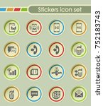 mobile connection round sticker ... | Shutterstock .eps vector #752183743
