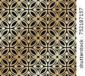 golden ornamental seamless... | Shutterstock .eps vector #752187157