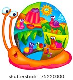 colorful snail | Shutterstock . vector #75220000