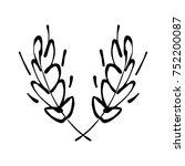 vector  ink  hand drawn ... | Shutterstock .eps vector #752200087