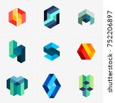modern abstract design vector... | Shutterstock .eps vector #752206897