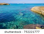 transparent sea in es calo de... | Shutterstock . vector #752221777