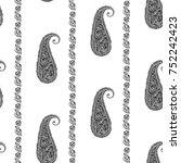 paisley   seamless ethnic... | Shutterstock .eps vector #752242423