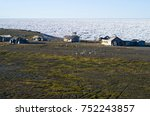 polar weather station on the... | Shutterstock . vector #752243857