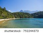 Small photo of Praia de Abraaozinho (Abraaozinho Beach) in tropical Ilha Grande (Grande Island) in south Rio de Janeiro, Brazil
