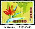 equatorial guinea   circa 1976  ... | Shutterstock . vector #752268643