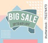 modern colorful poster  banner  ... | Shutterstock .eps vector #752276473