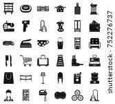 housework icons set. simple... | Shutterstock .eps vector #752276737