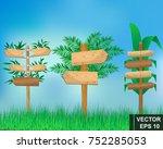 set of cartoon index boards.... | Shutterstock .eps vector #752285053