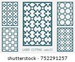 laser cut ornamental panel ... | Shutterstock .eps vector #752291257