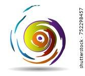 vector pattern. multicolored... | Shutterstock .eps vector #752298457