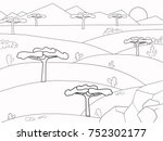 african savannah coloring book. ... | Shutterstock .eps vector #752302177