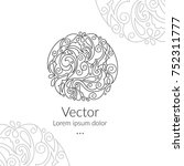 vector emblem. can be used for... | Shutterstock .eps vector #752311777